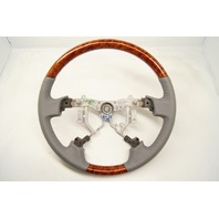 2005-2010 Toyota Avalon Steering Wheel Grey Leather With Wood Grain No Controls