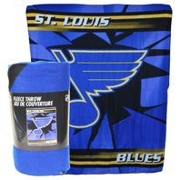 NHL Licensed Hockey St. Louis Blues Fleece Throw Blanket Ice Design LGB