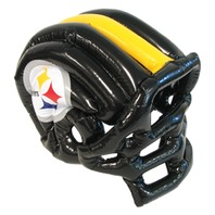 NFL Licensed Pittsburgh Steelers Inflatable Team Helmet Hat Cap