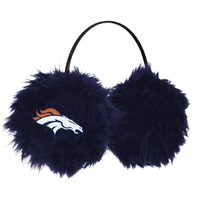 NFL Licensed Football NFL Denver Broncos Earmuffs Cheermuffs Blue Furry