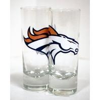 NFL Licensed 2 Oz Cordial Shot Glass - Denver Broncos