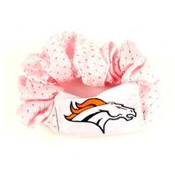 NFL Licensed Football NFL Denver Broncos Pink Hair Twist Scrunchie Ponytail