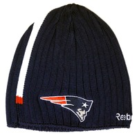 Reebok NFL Licensed Football New England Patriots Onfield Knit Beanie Hat Uncuffed