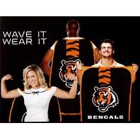 "NFL Licensed Cincinnati Bengals Football 31.5""x 47"" Team Fan Flag Cape Banner"