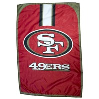 "NFL Licensed San Francisco 49ers Football 31.5""x 47"" Team Fan Flag Cape Banner"