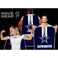 "NFL Licensed Dallas Cowboys Football 31.5""x 47"" Team Fan Flag Cape Banner"