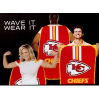 "NFL Licensed Kansas City Chiefs Football 31.5""x 47"" Team Fan Flag Cape Banner"