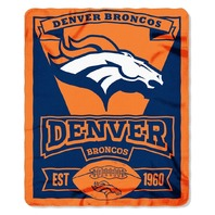 NFL Licensed Football Northwest Denver Broncos Marque Fleece Throw Blanket