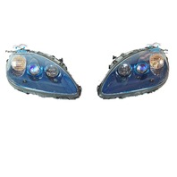 08-11 Corvette C6 Jetstream Blue Headlight Head Light Lamp Assemblies Pair