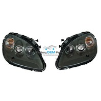 05-08 Corvette C6 Silver Headlight Head Light Lamp Assemblies Pair Factory OEM