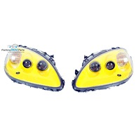 05-13 Corvette C6 Velocity Yellow Headlight Head Light Lamp Assemblies Pair
