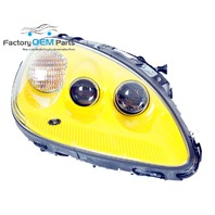 05-12 C6 Export Corvette RH Passenger Velocity Yellow Headlight Light Lamp