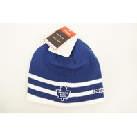 Toronto Maple Leafs NHL Licensed Reebok 2 Stripe Beanie Knit Hat Winter Classic
