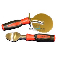 Snap-On Soft Grip Handle Pizza Cutter & Ice Cream Scooper Combo Gift Pack