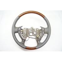 Cadillac DeVille 2000-2005 Steering Wheel Leather Dark Grey Wood Grain Controls