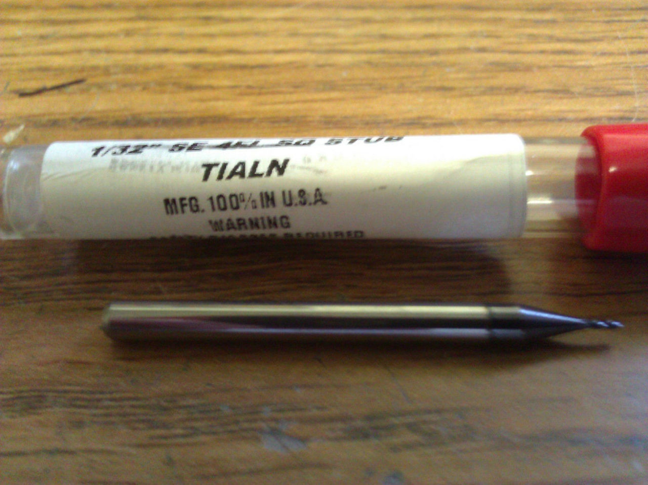 "TiALN COATED 1//16/"" 4 FLUTE CARBIDE END MILL"