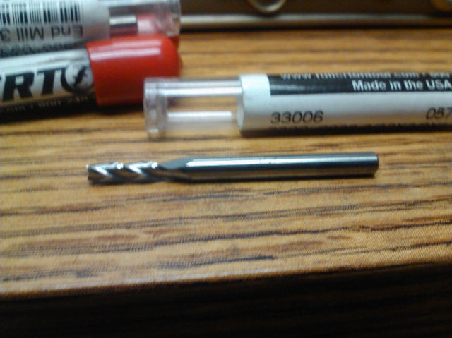 "3/32"" 3 FLUTE SINGLE END CARBIDE END MILL 3/32"" x 1/8"" x 3/8"" x 1-1/2"""