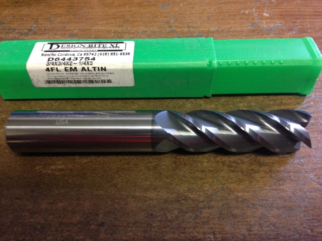 "3/4"" 4 FLUTE AlTIN LONG LENGTH CARBIDE END MILL 3/4"" x 3/4"" x 2-1/4"" x 5"""
