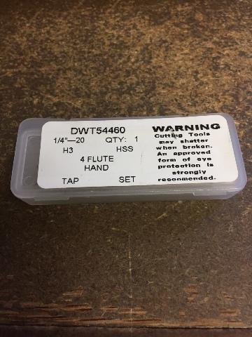 "1/4""-20 GH3 4 FLUTE HIGH SPEED STEEL 3 PIECE TAP SET"