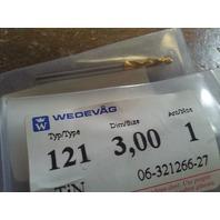 ".1181"" 3mm HSCO TiN COATED SCREW MACHINE LENGTH DRILL"