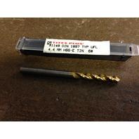 """.1732"""" 4.4mm HSCO TiN STUB DRILL"""