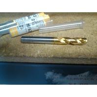 ".3281"" 21/64"" HSCO COBALT TiN COATED SCREW MACHINE LENGTH DRILL"