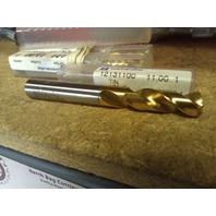 ".4331"" 11mm HSCO TiN COATED SCREW MACHINE LENGTH DRILL"