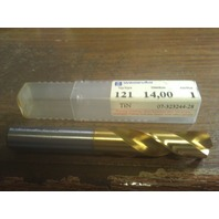 ".5512"" 14mm HSCO TiN COATED SCREW MACHINE LENGTH DRILL"