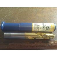 ".6094"" 39/64"" COBALT TiN COATED SCREW MACHINE LENGTH DRILL"