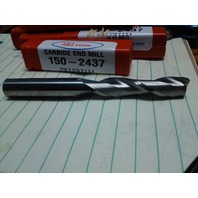 "7/16"" 2 FLUTE SINGLE END LONG LENGTH CARBIDE END MILL 7/16"" x 7/16"" x 2"" x 4"""