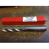 ".750"" 3/4"" 4 FLUTE EXTRA LONG LENGTH CARBIDE END MILL 3/4"" x 3/4"" x 3"" x 6"""