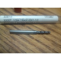 "7/64"" 4FL SE REGULAR LENGTH TiAlN CARBIDE END MILL 7/64"" X 1/8"" X 1/2"" X 1-1/2"""