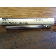 ".1875"" 3/16"" 2FL SE STUB LENGTH CARBIDE END MILL 3/16"" X 3/16"" X 3/8"" X 2"""