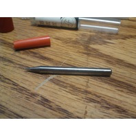 ".0150"" 2fl SINGLE END CARBIDE END MILL.0150"" x 1/8"" .0225"" x 1-1/2"""