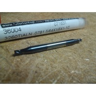 """5/64"""" 4 FLUTE DOUBLE END STUB TiAlN CARBIDE END MILL"""