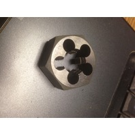 "1/2""-18 CARBON STEEL HEXAGONAL RE-THREADING DIE"