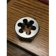 M17 X 0.50 CARBON STEEL HEXAGONAL RE-THREADING DIE