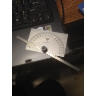 "0-180 DEGREE PROTRACTOR 6""/150mm RULE"
