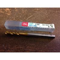 ".1693"" 4.3mm HSCO TiN STUB DRILL EX-SUS-GDS"