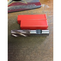 """1"""" 6 FLUTE REGULAR LENGTH FINE PITCH TiCN HSCO ROUGHING END MILL"""
