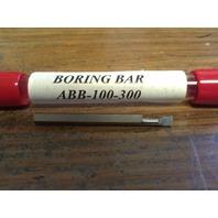 "New 1/8"" Solid Carbide Boring Bar ABB-100300 .100"" Minimum Bore"
