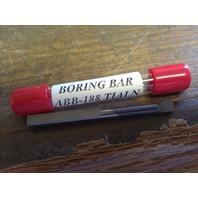 "New 3/16"" Solid Carbide Boring Bar ABB-188 TiAlN .185"" Minimum Bore"