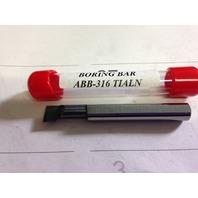 "New 5/16"" Solid Carbide Boring Bar ABB-316 TiAlN .310"" Minimum Bore"
