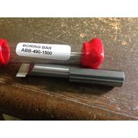 "New 1/2"" Solid Carbide Boring Bar ABB-4901500 .490"" Minimum Bore"