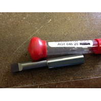 """New 3/8"""" Solid Carbide Grooving Bar .046"""" Groove AGT-046-20"""