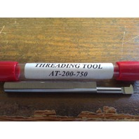 "New 1/4"" Solid Carbide 60 DegreeThreading Bar AT-200-750"