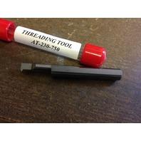 "New 1/4"" Solid Carbide 60 DegreeThreading Bar AT-230750"