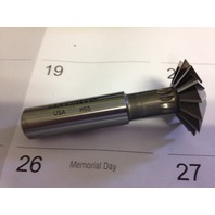 """1-3/8"""" 60 DEGREE INCLUDED ANGLE HIGH SPEED STEEL DOUBLE ANGLE CUTTER"""