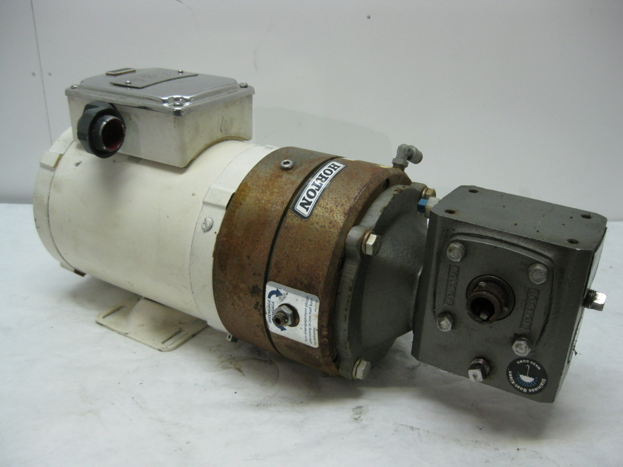 Reliance 1 2 Hp Washdown Motor W Boston Gear Reducer 5 1