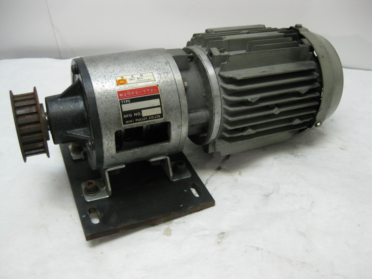 Miki Pully Co Motor Coupled Clutch Brake 126 08 4b With